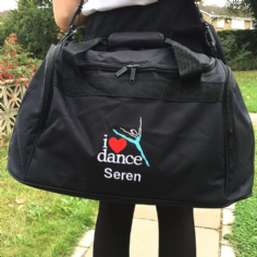 Personalised I LOVE DANCE Bag Dancing Mini Holdall   BG200